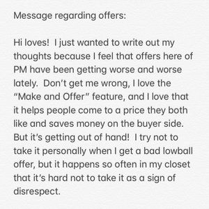 Regarding OFFERS here on Poshmark ♥️♥️